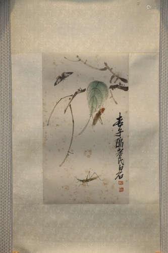 1840-1949, A BAISHI QI <CHONG CAO> PAINTING