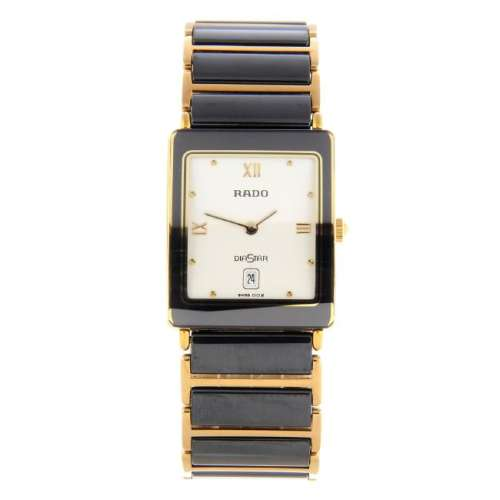RADO - a mid-size DiaStar bracelet watch. Bi-material