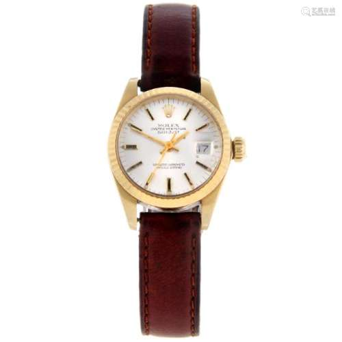 ROLEX - a lady's Oyster Perpetual Datejust wrist watch.