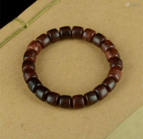 印度小叶紫檀手串紫檀0.8cm桶珠