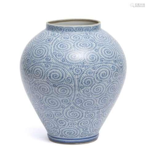 Grand vase à motif floral tourbillon poulpe (takok…