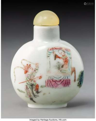 78004: A Chinese Enameled Porcelain Warrior and Beauty