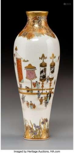 78383: A Yabu Meizan Satsuma Earthenware Vase, Japan, M