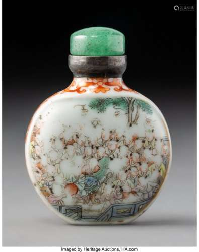 78002: A Chinese Enameled Porcelain Snuff Bottle, Qing