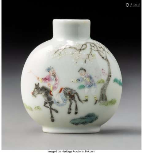 78005: A Chinese Enameled Porcelain Scholar Attendant S