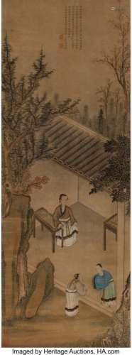 78330: After Lu Zhi (Chinese, 1496-1576) Meng Mu Teachi