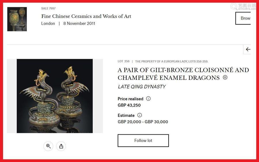 [=] RARE PAIRE DE DRAGONS DIPTERES A CINQ GRIFFES ...;