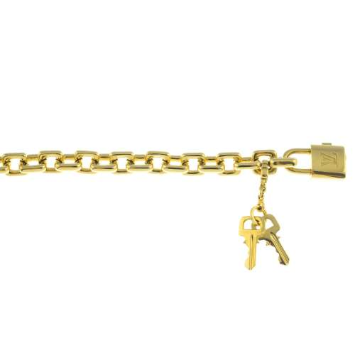 LOUIS VUITTON - an 18ct gold bracelet.
