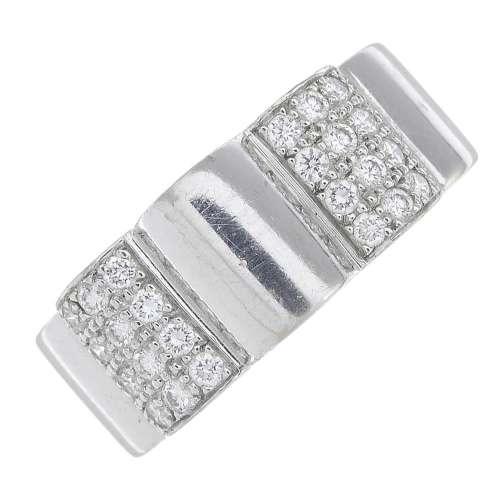 CHANEL - an 18ct gold diamond 'Profil de Camelia' ring.