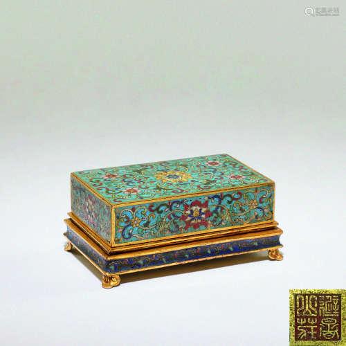 清 掐丝珐琅方盒