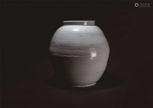十八世紀 李朝白瓷月亮罐
