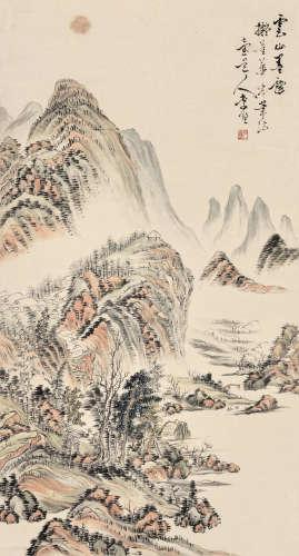 李墅(清代) 山水 立轴 纸本