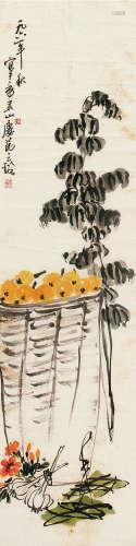 吴茀之(1900~1977) 花卉 镜片 纸本
