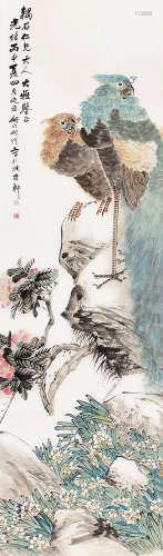 何煜(1852~1928) 花鸟 立轴 纸本