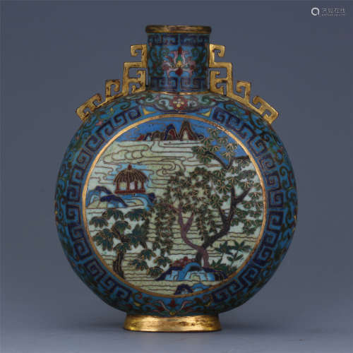 CHINESE CLOISONNE MOONFLASK QING DYNASTY