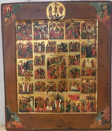 RÉSURRECTION ET DESCENTE AUX ENFERS, RUSSIE, XIXeSIÈCLE