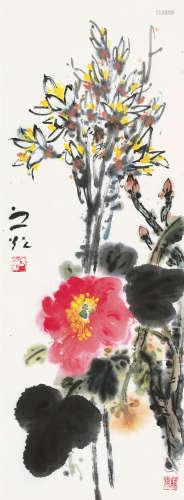 谢之光(1900~1976) 春韵 镜片 设色纸本