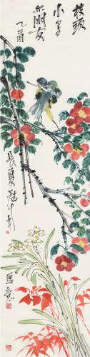 吴冠南 b.1950 乙酉(2005)年作 春花烂漫 立轴 设色纸本