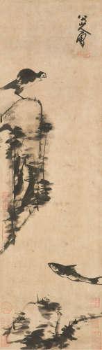 朱耷(1626~1705) 花鸟 立轴 水墨纸本