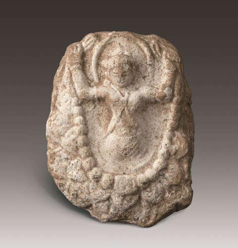6-7世纪 新疆和田泥塑佛座像