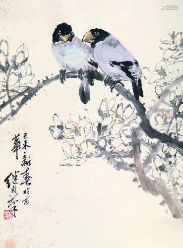 刘继卣 花鸟 纸本立轴