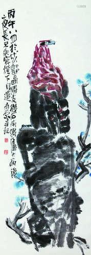 陈子庄 花鸟 纸本立轴