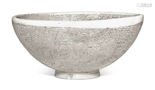 A LARGE MARBLED BOWL TANG DYNASTY