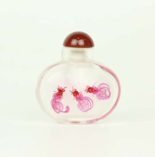 A Chinese Crystal Inside Painting Snuff Bottle