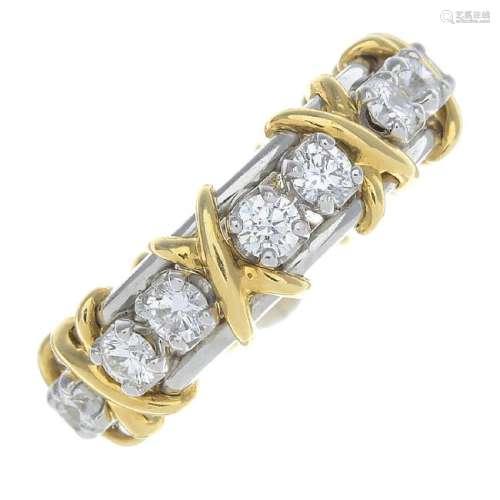 TIFFANY & CO. - a diamond 'Sixteen Stone' ring. Of