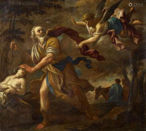Giordano, Luca('Il Presto')Neapel 1634 - 1705 - UmkreisOpferung Isaaks. Öl auf Leinwand.