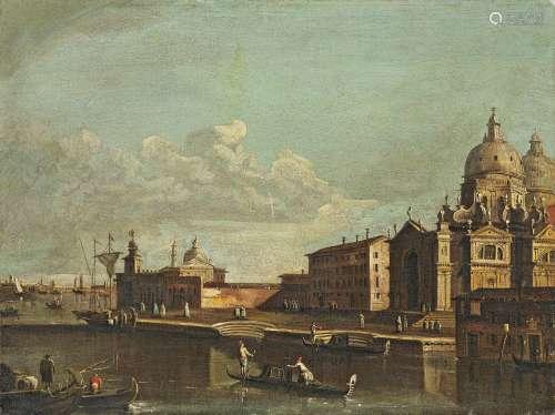 Tironi, FrancescoVenedig 1745 - 1797Santa Maria della Salute. Öl auf Leinwand. 54 x 71,5cm.