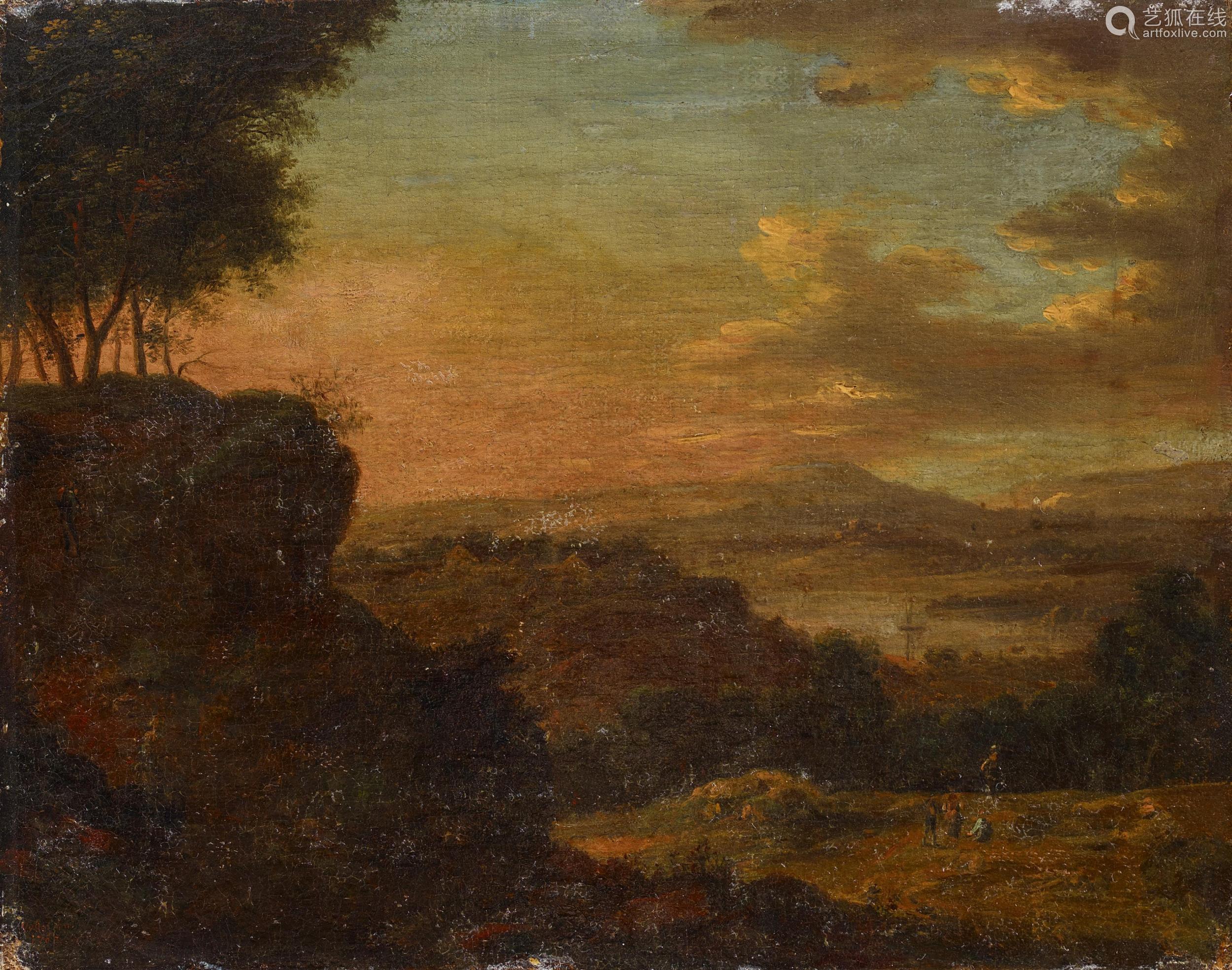 Vollerdt, Johann Christian1708 Leipzig - 1769 DresdenZwei Gemälde: Bergige Flusslandschaft mit