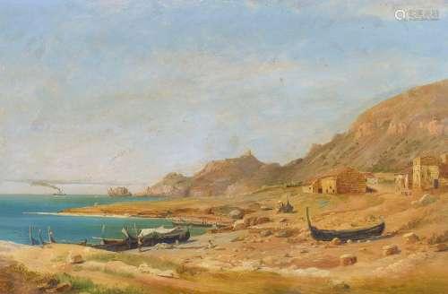 Leu, August Wilhelm1819 Münster - 1897 Seelisberg - zugeschriebenFischerboote an der
