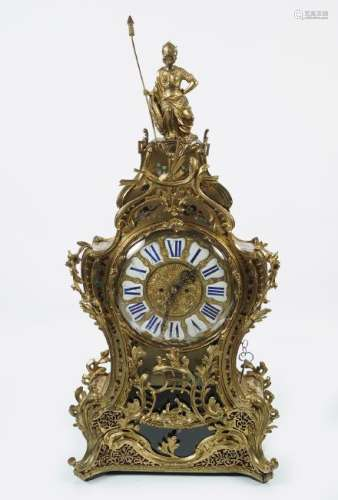 LARGE 19TH-CENTURY BUHL MANTLE CLOCK