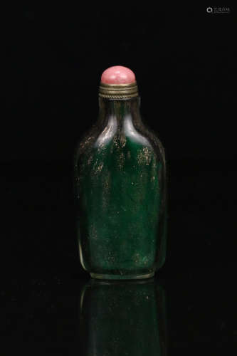 A GLASS SIMPLE SHAPED SNUFF BOTTLE