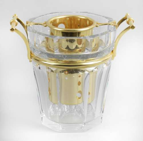 A Baccarat Harcourt champagne coooler,