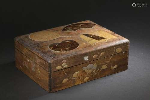 Coffret en bois laqué Japon, vers 1910 Rectangulai...;
