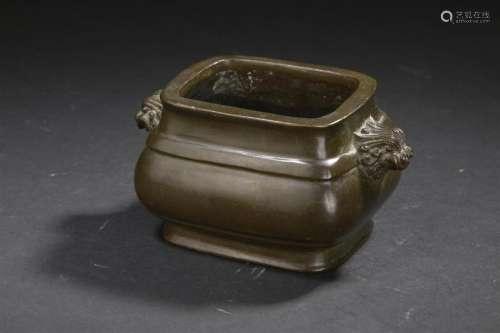 Petit brûle parfum en bronze Chine, XIXe siècle De...;