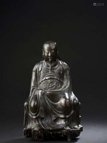 Statue de Zhenwu en bronze Chine, dynastie Ming, X...;