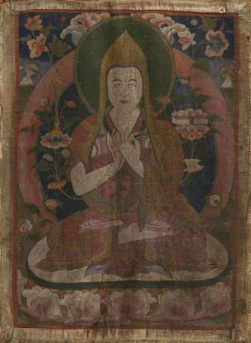 Thangka de Tsongkapa Tibet, Fin du XIXe siècle Le ...;