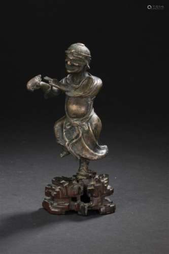 Statuette de Liuhai en bronze Chine, XXe siècle Re...;