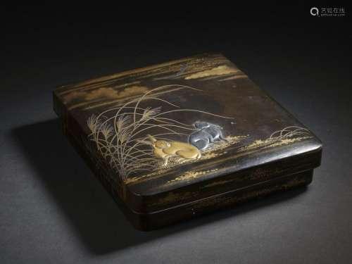 Suzuribako en bois laqué Japon, XIXe siècle Rectan...;