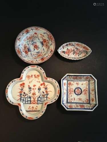 Quatre coupelles en porcelaine Imari chinois Chine...;
