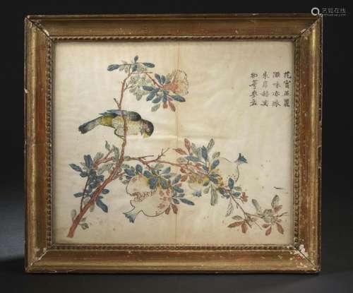 Estampe du Studio des Dix Bambous Chine, XIXe sièc...;