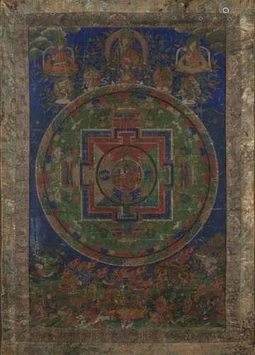 Thangka de Mandala Tibet, début du XIXe siècle Le ...;