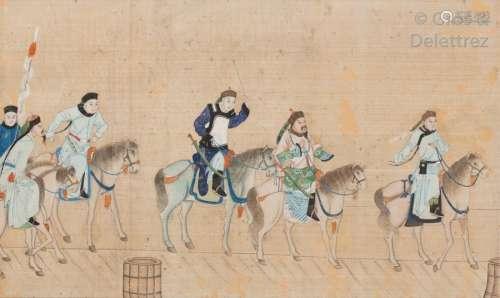 Chine, fin XIXe début XXe siècle\t \nLot de trois fr…
