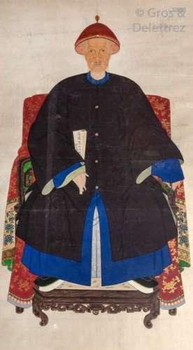 Chine, XIXe siècle\t \nEncre et couleurs sur papier …