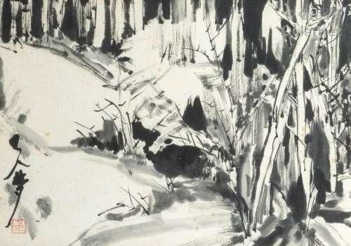 École Chinoise\t \nForêt de bambous\t \nEncre de Chine…
