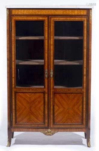 Bibliothèque vitrine de style Louis XVI