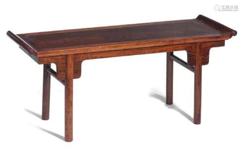 Table basse rectangulaire de Chine en bois de huang